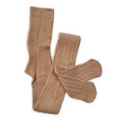 جوراب شلواری بافت زنانه گندم کرمی