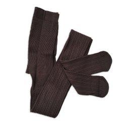 جوراب شلواری بافت زنانه گندم قهوه ای
