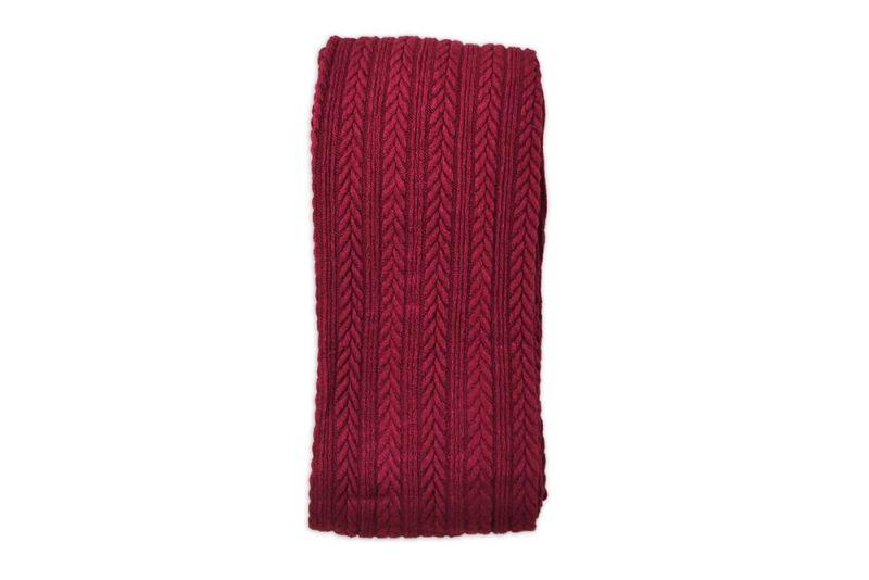 جوراب شلواری بافت زنانه گندم زرشکی