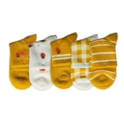 پک جوراب نیم ساق طرح گوجه فرنگی مدل HSM748 – بسته 5 عددی